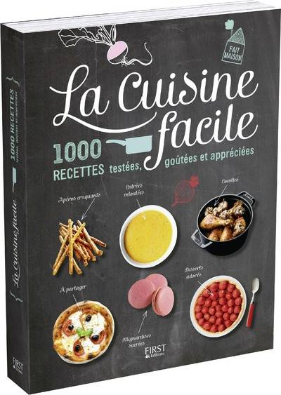 livre la cuisine facile 1000 recettes test es go t es et appr ci es h lo se martel first. Black Bedroom Furniture Sets. Home Design Ideas