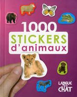 1000 Stickers D'Animaux (Fond Mauve)