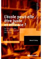L'Ecole Peut-Elle Etre Juste Et Efficace  De L'Egalite Des Chances A L'Egalite Des Acquis