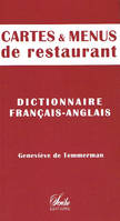 Cartes et menus de restaurant (franais-anglais)