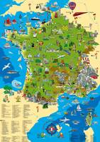 Carte de france illustrée