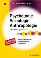 Psychologie, sociologie, anthropologie, UE 1.1