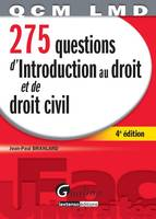 275 questions d'introduction au droit et de droit civil