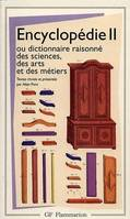 ENCYCLOPEDIE OU DICTIONNAIRE RAISONNE DES SCIENCES, Volume 2