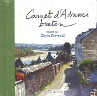 Carnet Adresses Breton (Dos Vert)