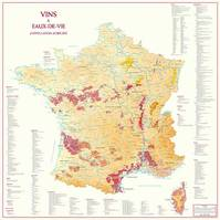 Carte de France des Vins et Eaux-de-Vie d'Appellation d'Origine (affiche roule)