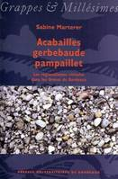 Acabailles, gerbebaude, pampaillet, les rgionalismes viticoles dans les Graves de Bordeaux