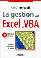 La Gestion Sous Excel Et Vba. Techniques Quantitatives De Gestion Avec Cd-Rom