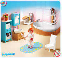 Salle de bain + baignoire