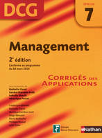 Management, DCG épreuve 7 / corrigés des applications : 2011-2012, conforme au programme du 18 mars