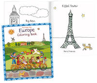 Cahier de Coloriage sur l'Europe